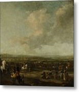Frederick Henry At The Surrender Of Maastricht  22 August 1632  Manner Of Pieter Wouwerman 1633   1 Metal Print