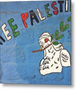 Free Palestine Peace Metal Print