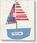 Freedom Boat- Art By Linda Woods Metal Print