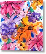 Freedom For Flowers Metal Print
