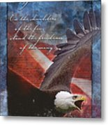 Freedom Greeting Card Metal Print by William Martin
