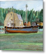 Freeport Fishing Boat Metal Print