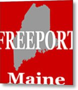 Freeport Maine State City And Town Pride  Metal Print