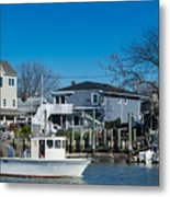 Freeport New York Bound For The Bay Metal Print