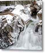 Freeze On The Basin Trail Nh Metal Print