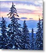 Freezing Sunset 14 Metal Print