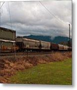Freight Rain Metal Print