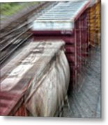 Freight Train Abstract Metal Print