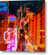 Fremont Street For One From The Heart Metal Print