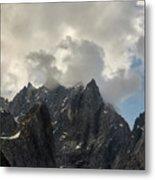 French Alps Peaks Metal Print