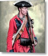 French And Indian War British Royal American Soldier Metal Print