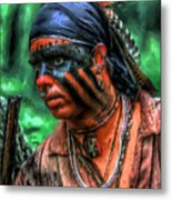 French And Indian War Indian Warrior Metal Print by Randy Steele