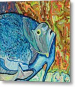 French Angle Fish Metal Print