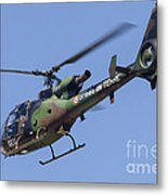 French Army Gazelle Helicopter Metal Print