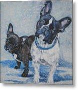 French Bulldog Mom And Pup Metal Print