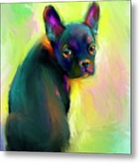 French Bulldog Painting 4 Metal Print