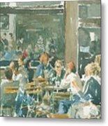 French Cafe Scene  Metal Print