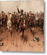 French Cavalry Charging Metal Print