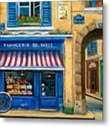 French Cheese Shop Metal Print by Marilyn Dunlap