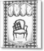 French Country Fauteuil Metal Print