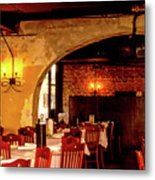 French Country Restaurant Metal Print