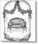 French Country Sofa Metal Print