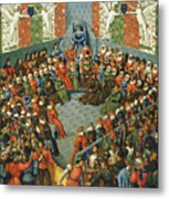 French Court, 1458 Metal Print