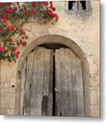 French Doors And Ghost In The Window Metal Print by Marilyn Dunlap