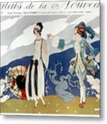 French Fashion Ad, 1923 Metal Print
