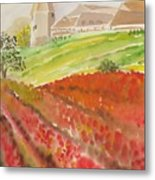 French Fields Metal Print