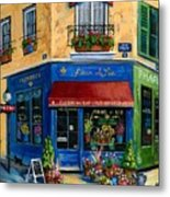 French Flower Shop Metal Print