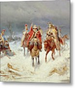 French Forces Crossing The River Berezina In November 1812 Metal Print