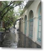 French Market Alley Metal Print