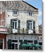French Market Cafe Metal Print