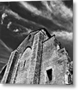 French Middle Age Kisses The Dark Sky Metal Print