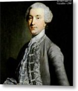French Nobleman At The Court Of Versailles -1788 V A  Metal Print