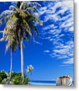 French Polynesia, Beach Metal Print