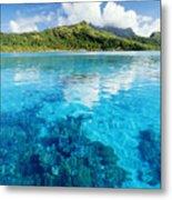 French Polynesia, View Metal Print