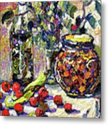 French Provence Cooking Still Life Metal Print