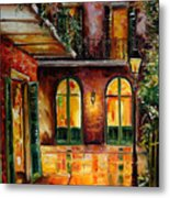 French Quarter Alley Metal Print