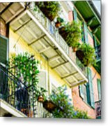 French Quarter Balconies - Nola Metal Print
