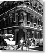 French Quarter Carriage Ride Metal Print