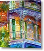 French Quarter Cityscape Metal Print