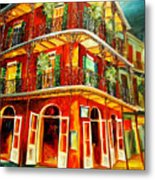 French Quarter Corner Metal Print