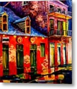 French Quarter Dazzle Metal Print