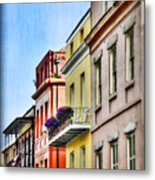 French Quarter In Summer Metal Print