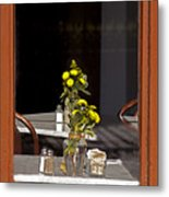 French Quarter Resturant-signed-#4856 Metal Print