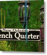 French Quarter Sign Metal Print