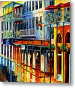 French Quarter Sunrise Metal Print