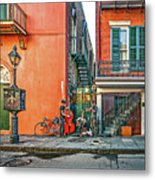 French Quarter Trio Metal Print
